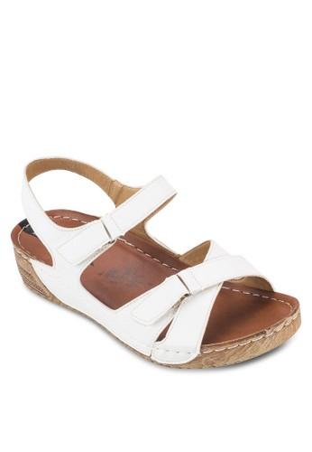 針扣帶楔esprit 衣服形涼鞋, 女鞋, 鞋