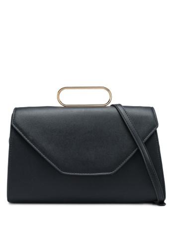 Mango black Metallic Handle Shoulder Bag 70367ACA1FF354GS_1