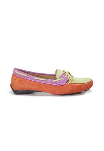Shu Talk orange AMAZTEP Colorful Suede Leather Driving Loafer Shoes(for Wide Feet) A999DSH3A49A12GS_1