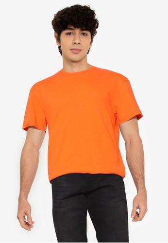 Jack & Jones orange Ivan Crew Neck Tee 7BA30AAD836447GS_1