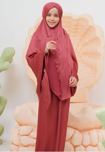 Halwa Scarf Mukena Shafiaa Anak Maroon D7802KC678064DGS_1