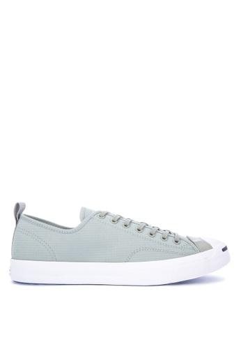 Converse grey Jack Purcell Micro Ripstop Sneakers B251CSH5AAEA7DGS_1