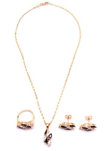 Jewelplace gold Diamond 4 in 1 Cubic Zircon Jewelry Set JE882AC10NOBPH_1