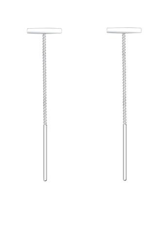 ELLI GERMANY silver Earrings Pull Through Geo Minimalist EL474AC83OJWMY_1