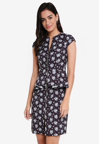 ZALORA black Origami Peplum Dress A258EAACDB3E58GS_1
