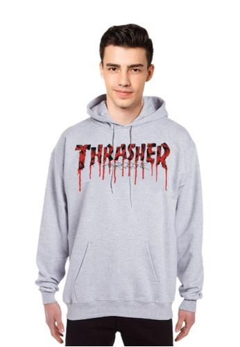 b066365c2c5 Thrasher grey Thrasher Flame Logo Hood Grey 32550AA6469738GS 1