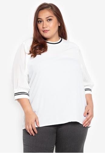 e1f9e98a7f2 Shop Maldita X Plus Size Felice Sporty Blouse Online on ZALORA Philippines