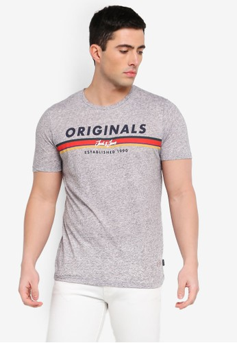 Jack & Jones grey Jortuco Printed Tee 929A1AA2D79141GS_1