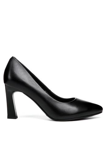 Twenty Eight Shoes 黑色 8CM真皮製服工作高踭鞋376ZC B7CC0SH5AB79B0GS_1