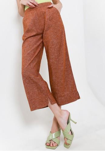 Giordano multi Women's Linen Culotte Pants 5884FAAAABE9F0GS_1