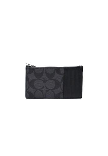 26d5c53717 COACH Zip Card Case In Signature Canvas (F32256) Black