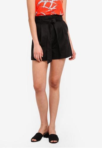 WAREHOUSE black Compact Cotton Shorts 15E62AAA11EAEBGS_1