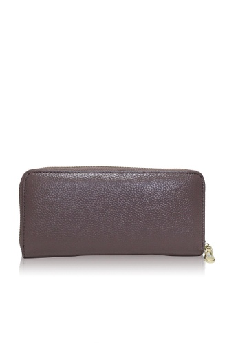 Dazz pink Calf Leather Classic Zip Up Wallet - Mauve Pink DA408AC33VCWMY_1