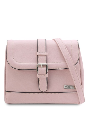 Unisa pink Faux Leather Sling Bag UN821AC70QTXMY_1
