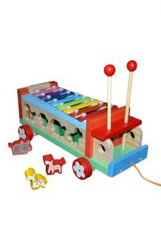 Wooden Animal Xylophone and Sorting Truck