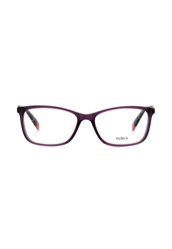 Furla Furla VFU028 Purple Eyeglasses  FU454AC0RAMEMY_1
