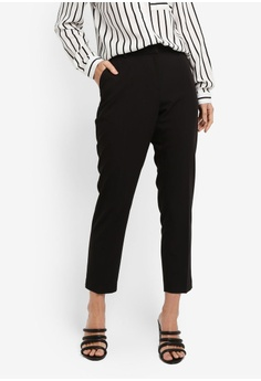 8d71cefe4f5 Dorothy Perkins black Black D-Ring Naples Trousers (Short Fit)  6F2B0AA8859B1AGS 1