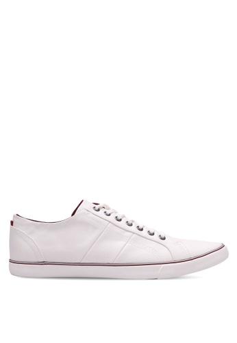 Burton Menswear London white Walden Casual Plimsolls 21D14SH3A8A363GS_1