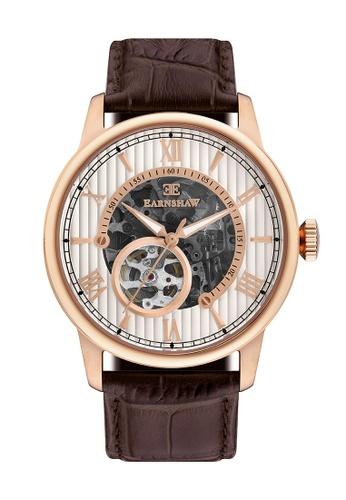 Thomas Earnshaw brown Thomas Earnshaw Men's Genuine Leather Strap Watch - ES-8802-04 ABFDAAC0B93EDCGS_1