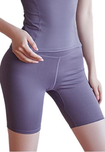 Sunnydaysweety purple High Waist Stretch Bike Shorts A081023PU 9E970AA51BF8ACGS_1