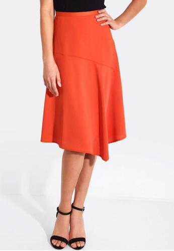 FORCAST orange Marie A-Line Skirt 6BBF6AA60E6887GS_1