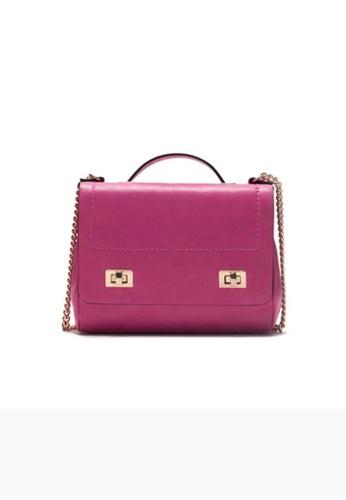 LULUGIFT pink Lulugift Special Chain Mini Oblique Sling Bag Pink LU989AC0RA23MY_1