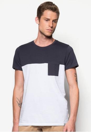 撞色拼接口袋TEE, 服esprit服飾飾, T恤