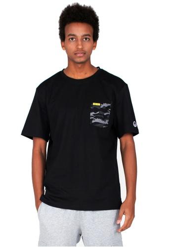 Reoparudo black RPD Camo X Reflective Print Contrast Tee (Black) C9725AA98DD77FGS_1