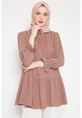 LISH pink and brown Mona Blouse - Dusty 43DC8AA879BA6DGS_1
