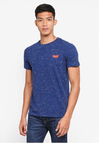 Superdry 藍色 混色短袖T恤 D15D1AAEB89D9AGS_1