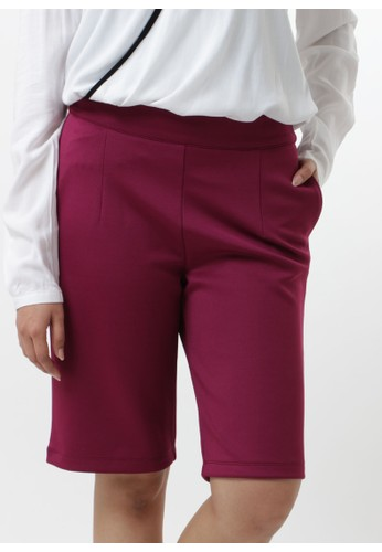 Cropped Pants - Berry