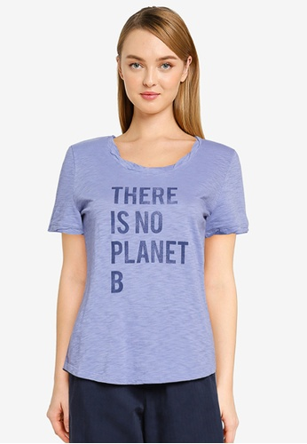 GAP blue Organic Cotton Graphic T-Shirt 66B12AA2364442GS_1