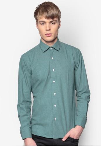 合身長袖襯esprit門市衫, 服飾, 素色襯衫