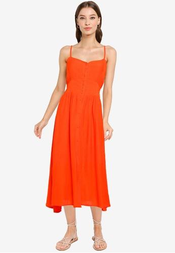 Heather orange Woven Dress A2EBCAAA3EACDBGS_1