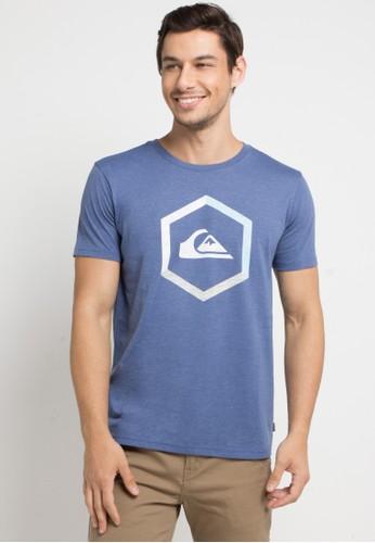 Quiksilver blue Multi-Hex Mod T-Shirt BB3A9AA8091FDFGS_1