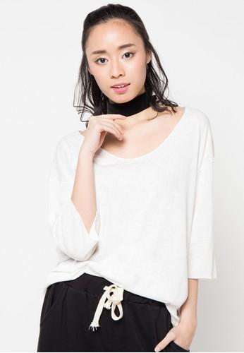 Envy Look white Loose T-Shirt EN694AA97CTMID_1