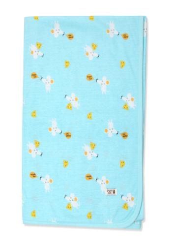 Organic mom green Organic Cotton Robin Mouse Swaddle Blanket 59053KC190E276GS_1