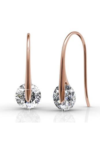 Her Jewellery gold Swarovski® Crystals -Classy Earrings (Rose Gold) (18K Rose Gold Plated) Her Jewellery HE581AC0RCCCMY_1