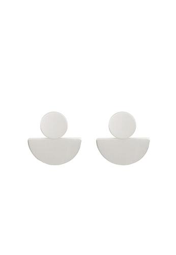 Parfois silver Geometric Earrings 693E7ACE8D525AGS_1