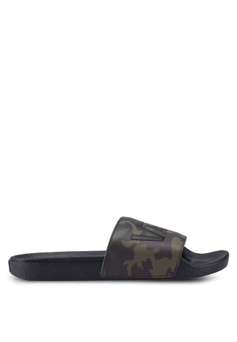 9399259e9 VANS black and green Camo Sliders 6C09ESH8B545B9GS_1