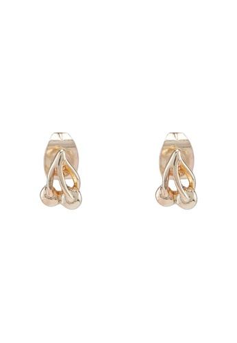 Pieces gold Tilly Earstud Box Earrings 4ED05AC09F6002GS_1