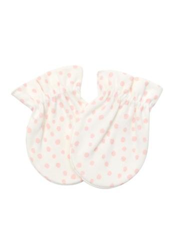 Organic mom beige Organic Pinky Dotty Mittens (FALL) DBF39KC51FF7B4GS_1
