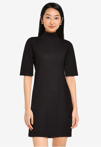 ZALORA BASICS black High Neck Oversized Dress 26CD6AA6AFE8BDGS_1