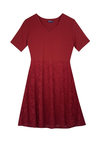 Cheetah red Cheetah Ladies Short Sleeve Lace Dress - CL-19610 D6AF7AA1F68939GS_1
