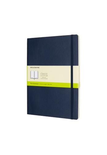 Moleskine blue Classic Notebooks Plain Soft Blue Xl 22A21HL1A6CF65GS_1
