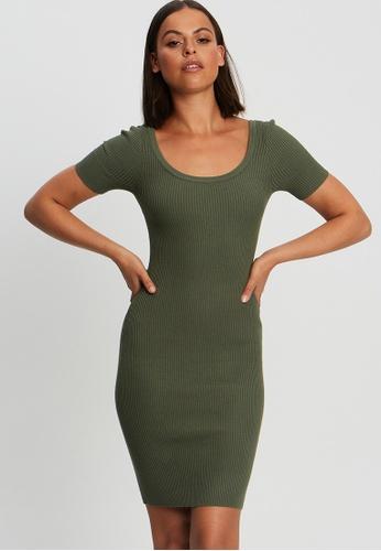 BWLDR green Carina Knit Dress B887DAA151E8E4GS_1
