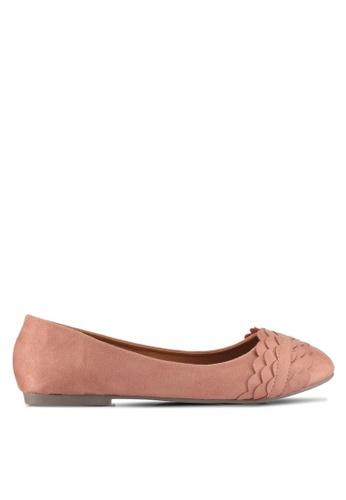 Alfio Raldo pink Round Tip Ballerina Flats 602DESH488BDDCGS_1