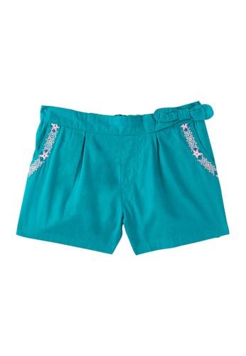 Du Pareil Au Même (DPAM) green Embroidery Shorts BC328KAAEE752EGS_1