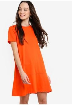 ec9e95042d Something Borrowed orange Flare Hem Knit Dress FED49AA9BC3698GS 1