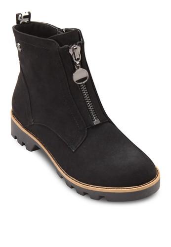 前esprit hk outlet拉鍊低跟短靴, 女鞋, 鞋